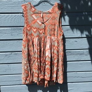 Free People Printed Tunic